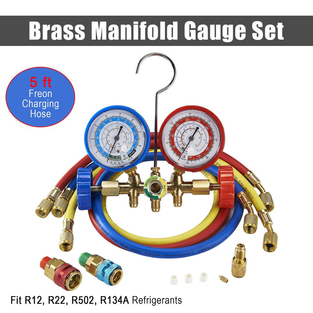 eBay #Sponsored 2X R134A R12 R22 R502 Diagnostic Brass Manifold