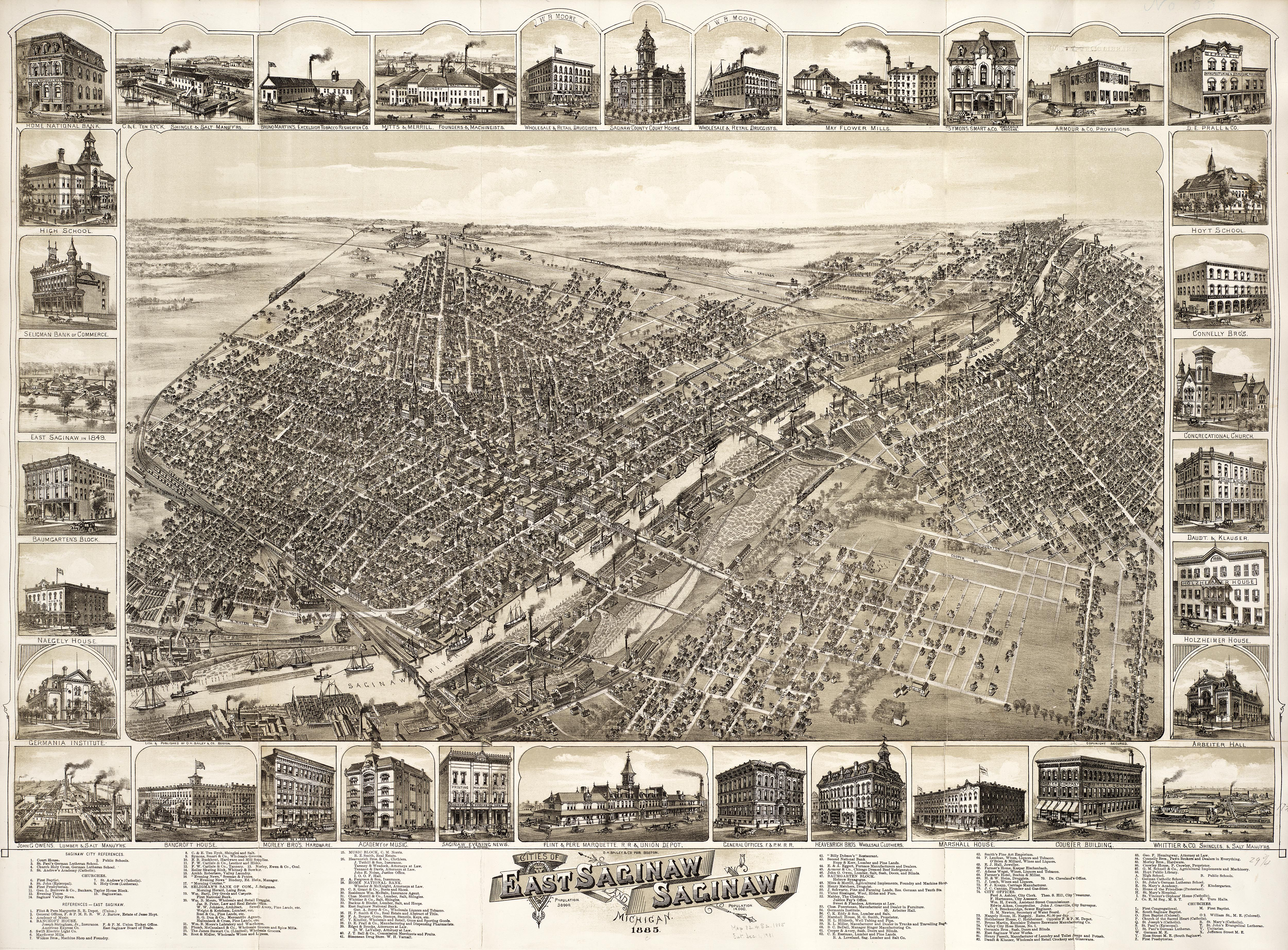 Going Back To 1885 In East Saginaw With This Incredible Map