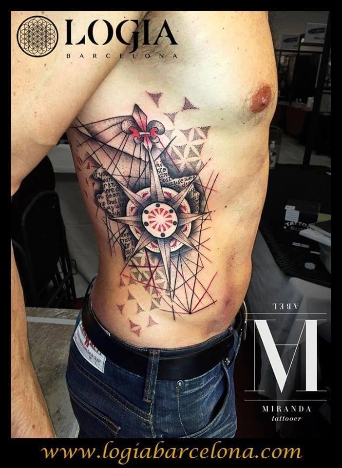 Tatuaje De La Rosa De Los Vientos Tatuajes Logia Barcelona In