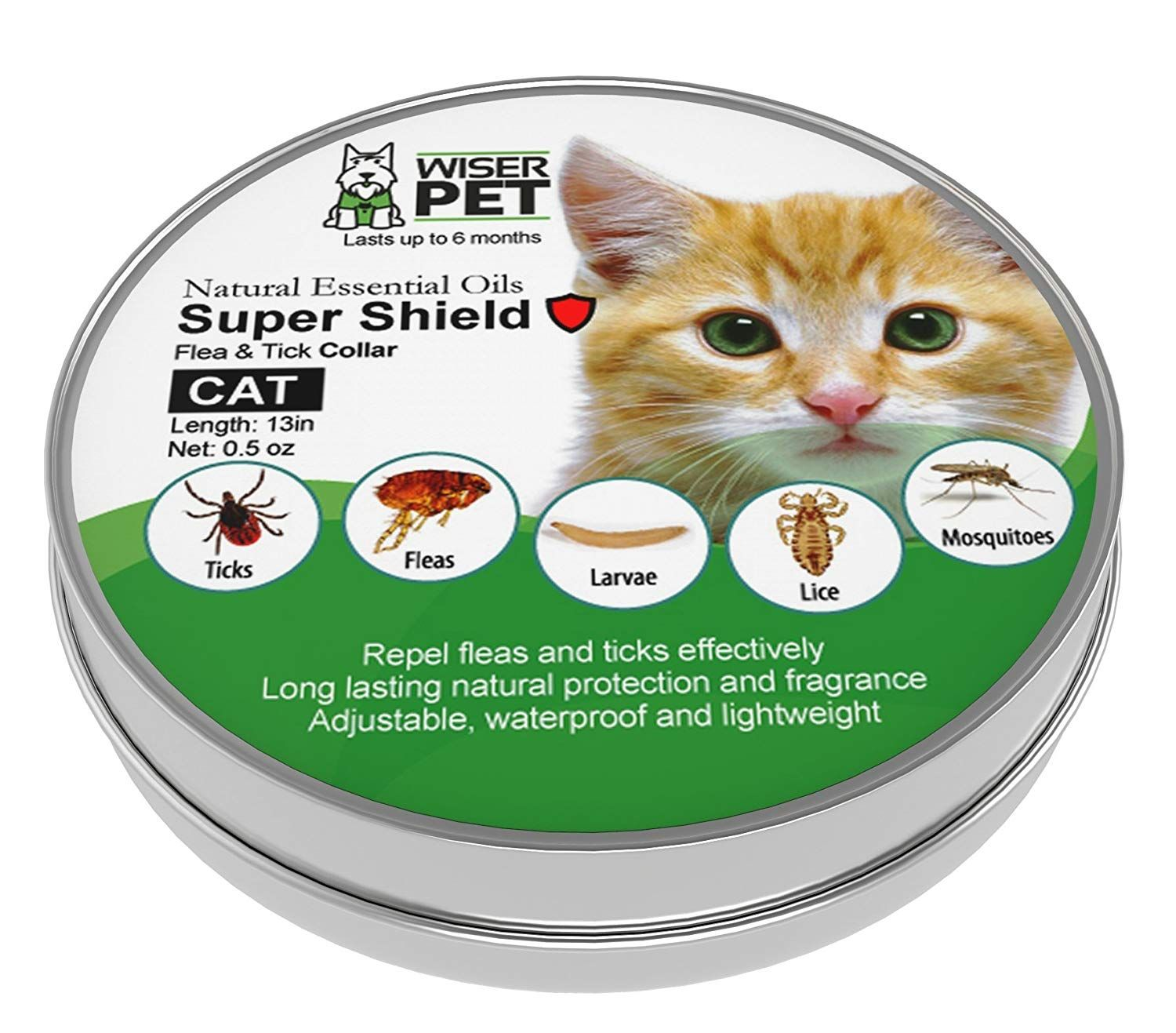 Natural Cat Flea Collar Enjoy Up To 6 Months All Natural Protection For Your Pet From Fleas Ticks And Other Bugs And I Cat Fleas Cat Flea Collar Natural Cat