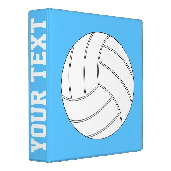 Volleyball Custom Color And Text Three-Ring Binder Custom