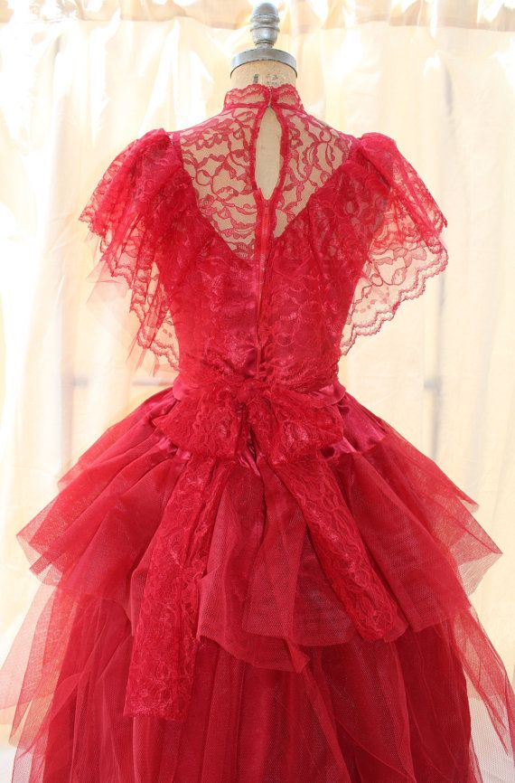 Lydia Deetz Red Wedding Dress BeetleJuice Sz 6 Med by DarkDetails ...