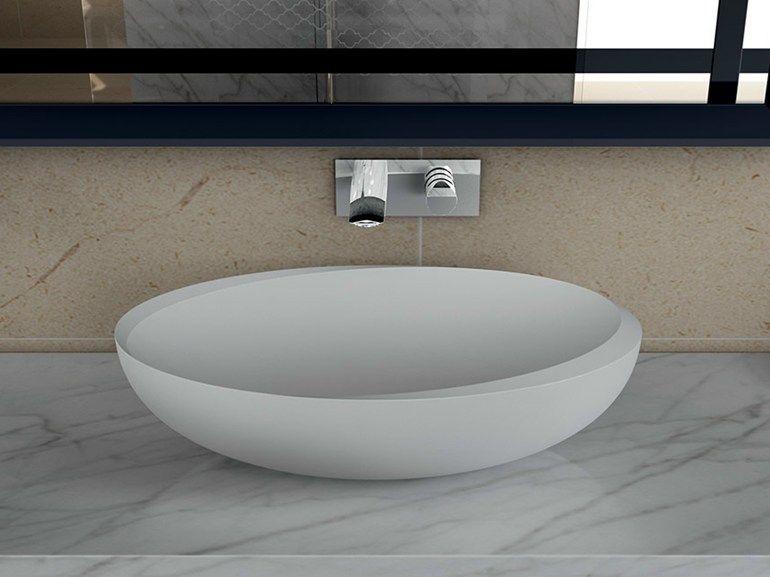 Colombo Bagno ~ Lavabo da appoggio singolo lavabo in duralight® collezione i bordi