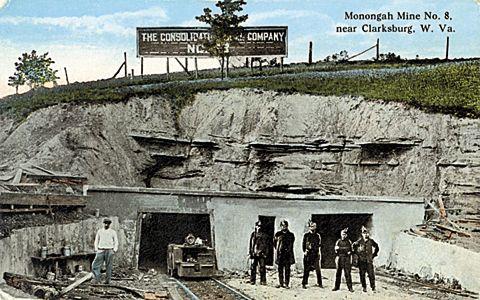 From A Postcard Monongah Mine No 8 Near Clarksburg W Va Clarksburg Appalachia Virginia Hill