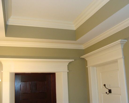 Beau Stunning Craftsman Style Molding Ideas: Beautiful Craftsman Style Molding  With Tray Ceiling And The Paint