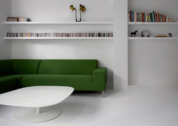 minimal Scandinavian interiors by i29 - løve the green sofa!