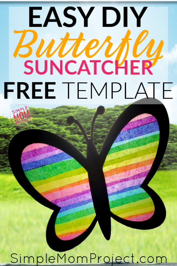 Easy and Fun DIY Spring Butterfly Sun catcher Craft