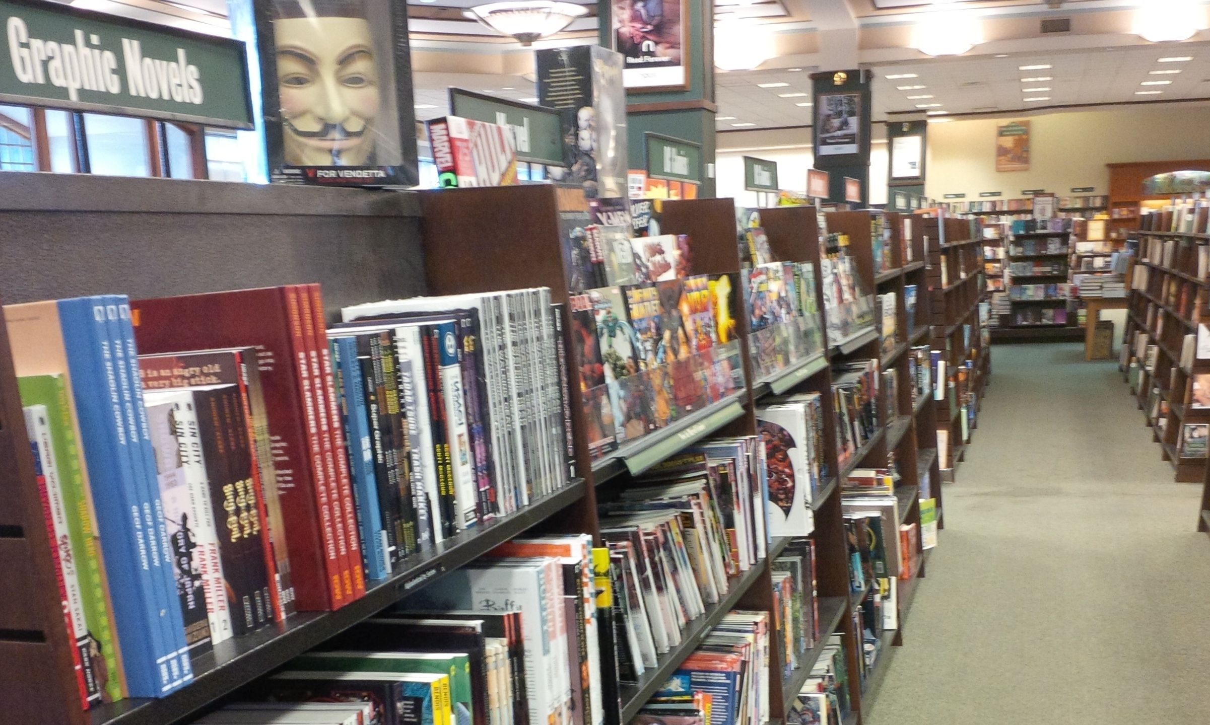 Barnes noble increases graphic novel space graphic