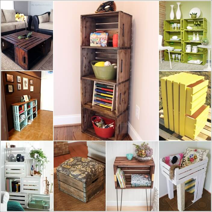 Look At These Incredible Wooden Crate Furniture Ideas Look At