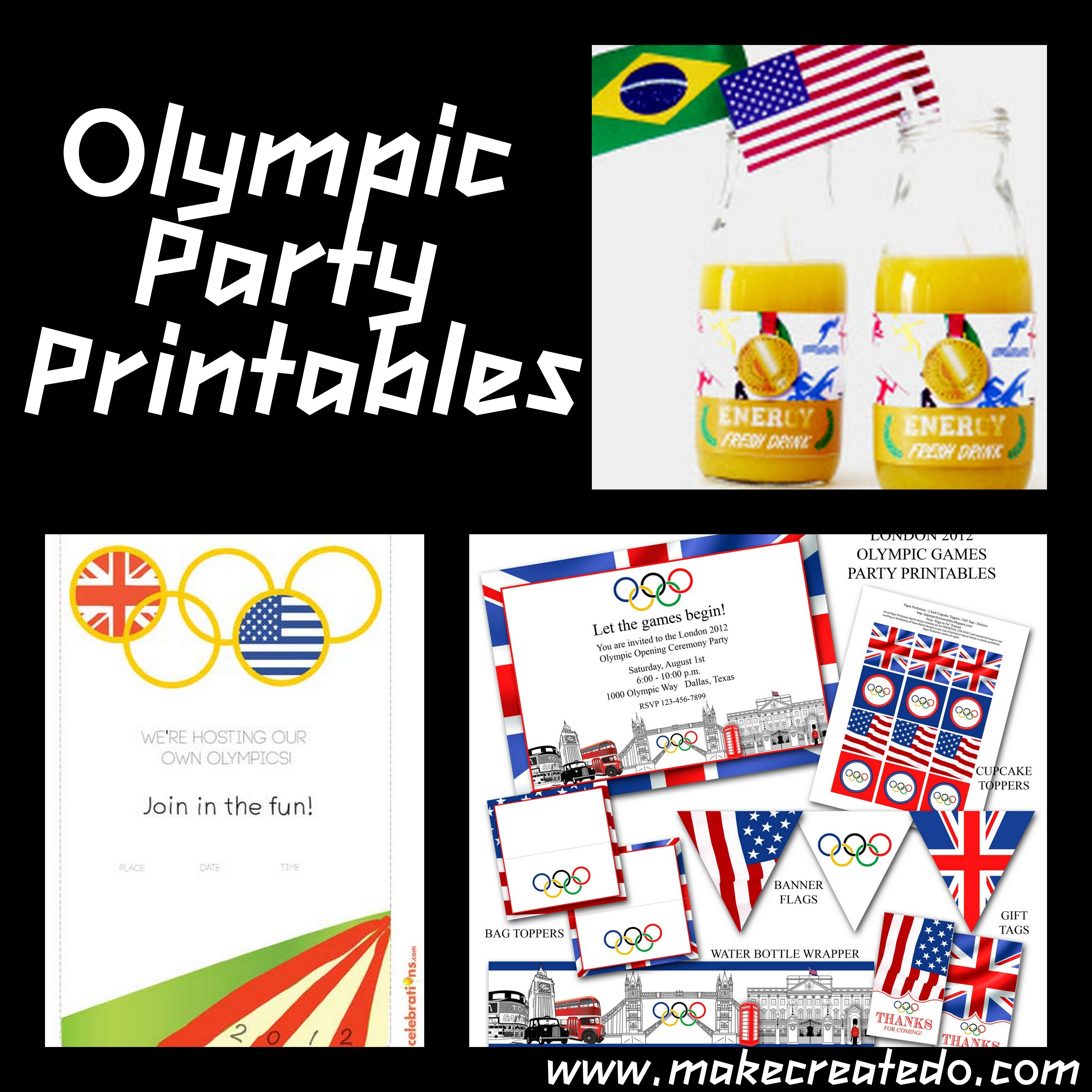 Olympic Games Birthday Party ideas and Inspiration Make Create Do