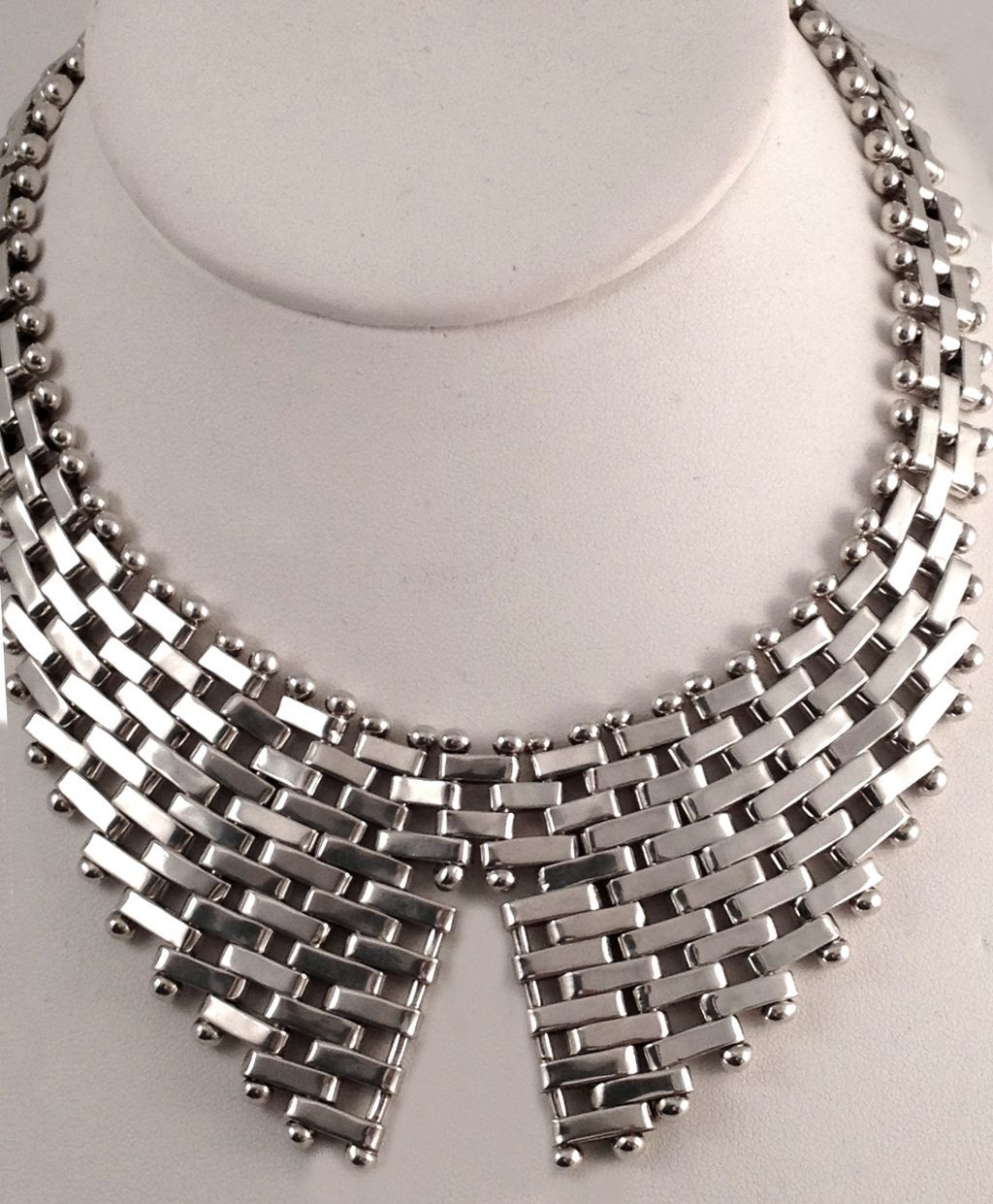 Vintage Modernist Necklace Signed Jondell Ent Inc Mexico Sterling Silver Ca 1960s Modernist Jewelry Jewelry Inspiration Art Jewelry Design