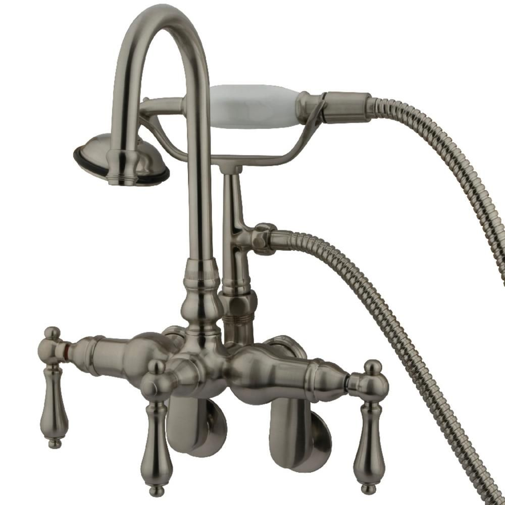 Kingston Brass Vintage 7 In Center 3 Handle Claw Foot Tub Faucet