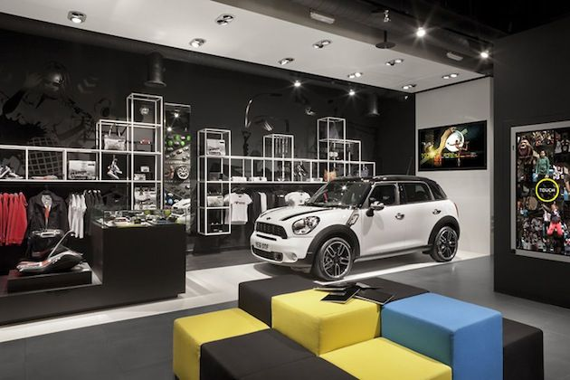 bmws mini pop up shop in london 4 architect interior exterior pinterest store design and. Black Bedroom Furniture Sets. Home Design Ideas