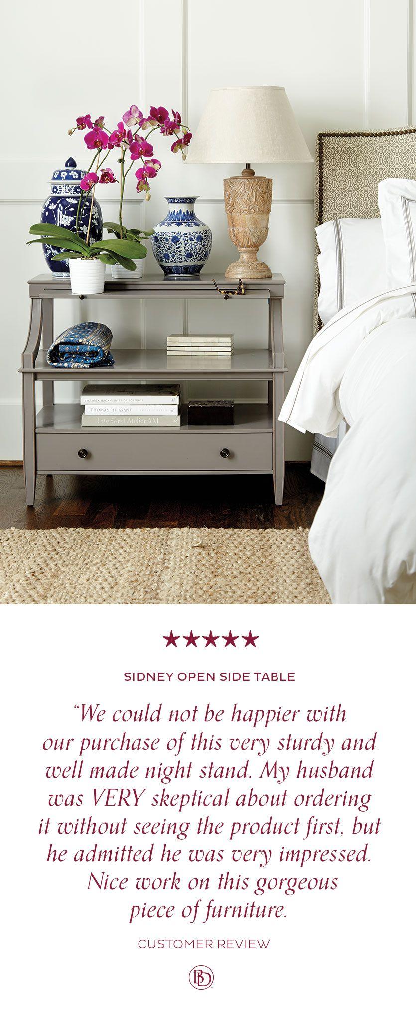 sidney open side table | bedroom | table, bedroom, bedroom decor
