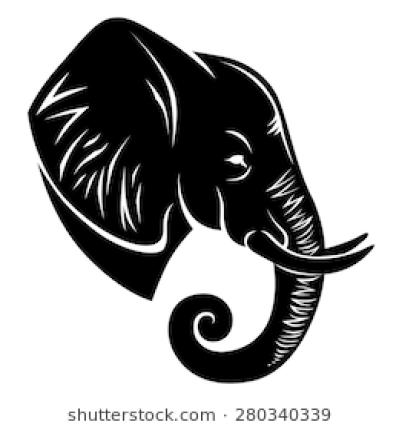 Elephant Head Vector Png Elephant Outline Elephant Clip Art Elephant Head Drawing
