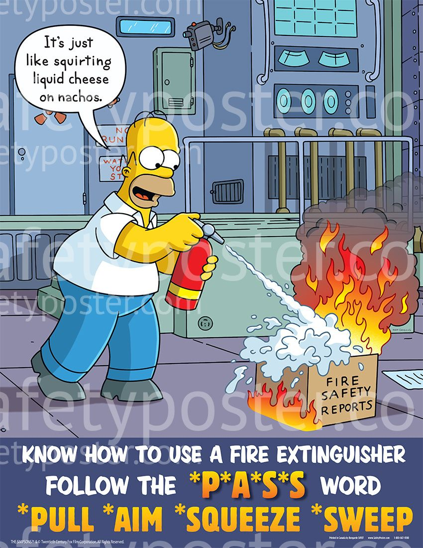 Fire Safety Posters Simpsons Fire