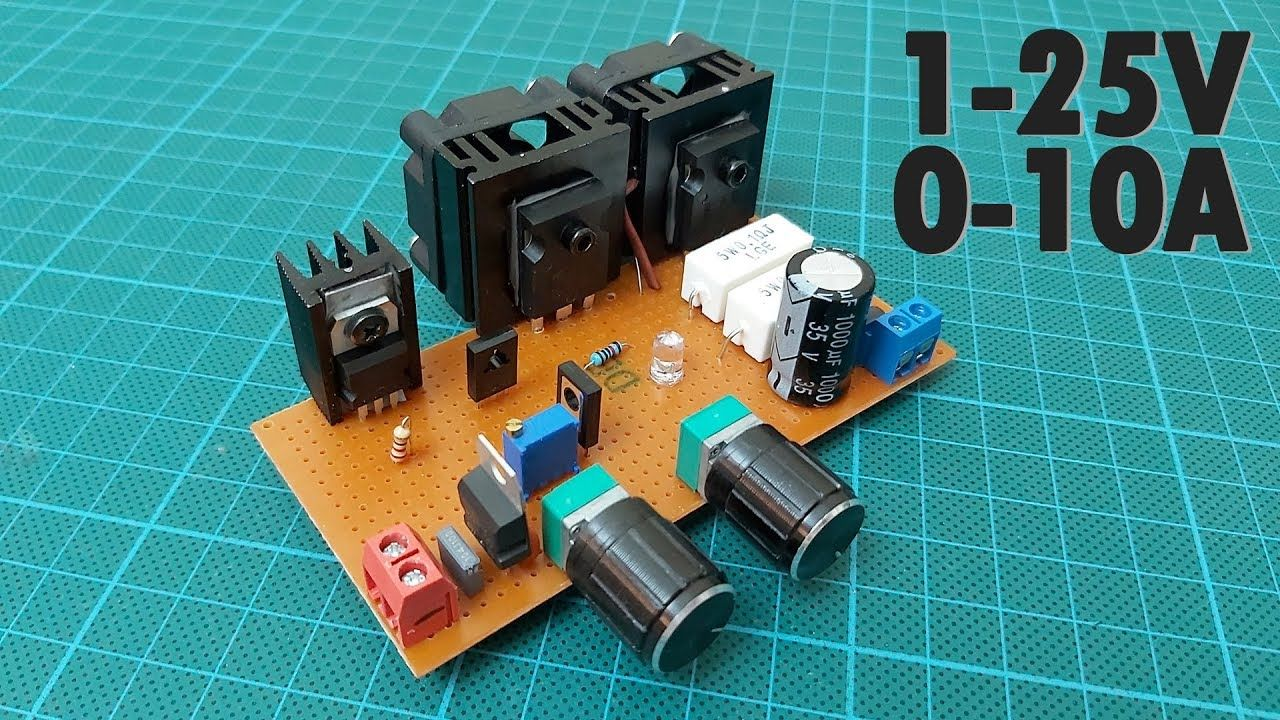 How To Make A Variable Power Supply 1 25v 0 10a Voltage Current Adjus Power Supply Design Power Supply Circuit Electronics Projects