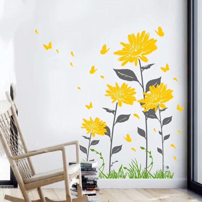 Beautiful Flowers Wall Decal