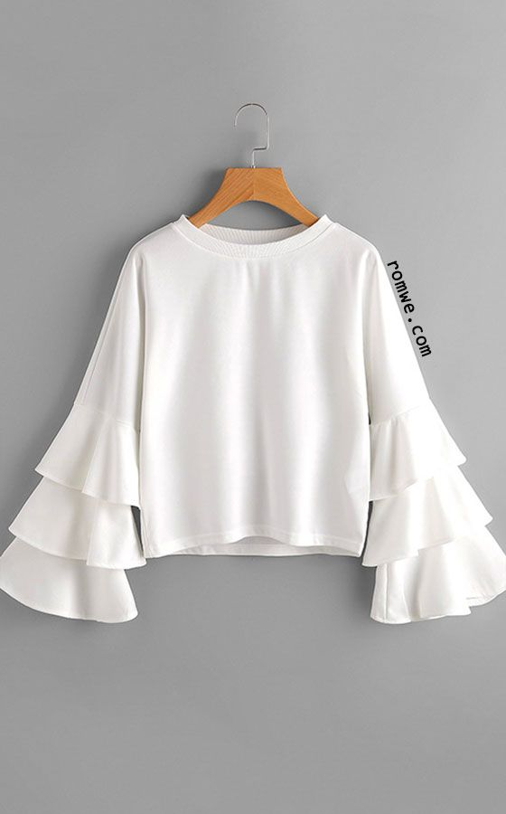 In terms of a short-sleeve top, a ruffle blouse goes a long way. Not only is it stylish, but it also exhibits a certain sense of femininity into an outfit. Not only is it stylish, but it also exhibits a certain sense of femininity into an outfit.