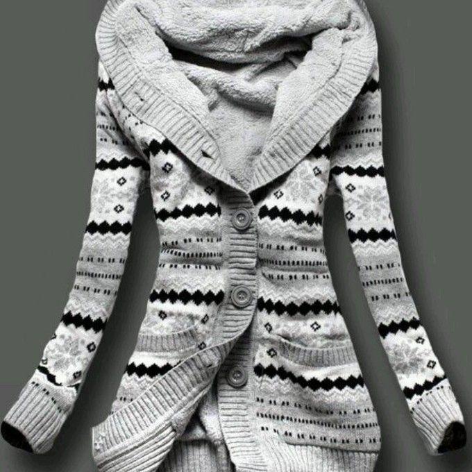 sweater clothes jacket woolen jacket norwegian knit jacket knit