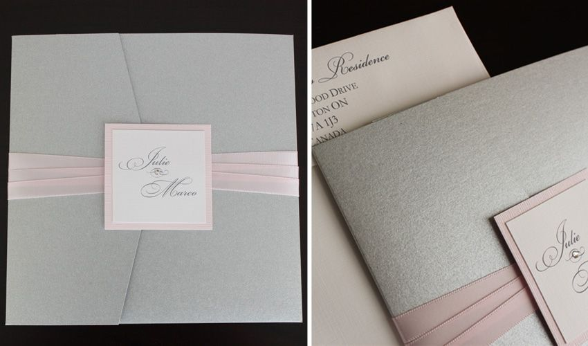Google Image Result For Http Www Zuccherowe Wp Content Uploads 2010 11 Pink And Silver Wedding Invitation Toronto 005 Jpg Pinterest