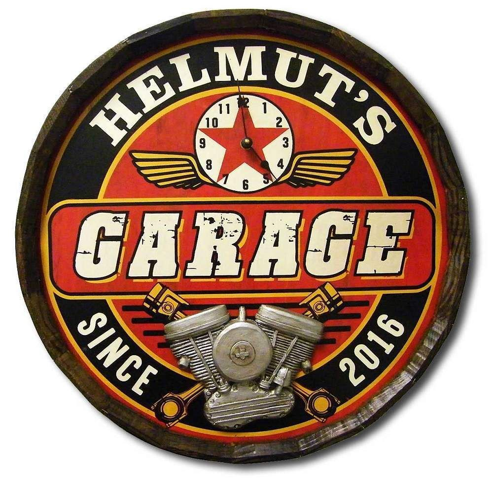 garage plaque signs aluminum cast personalized