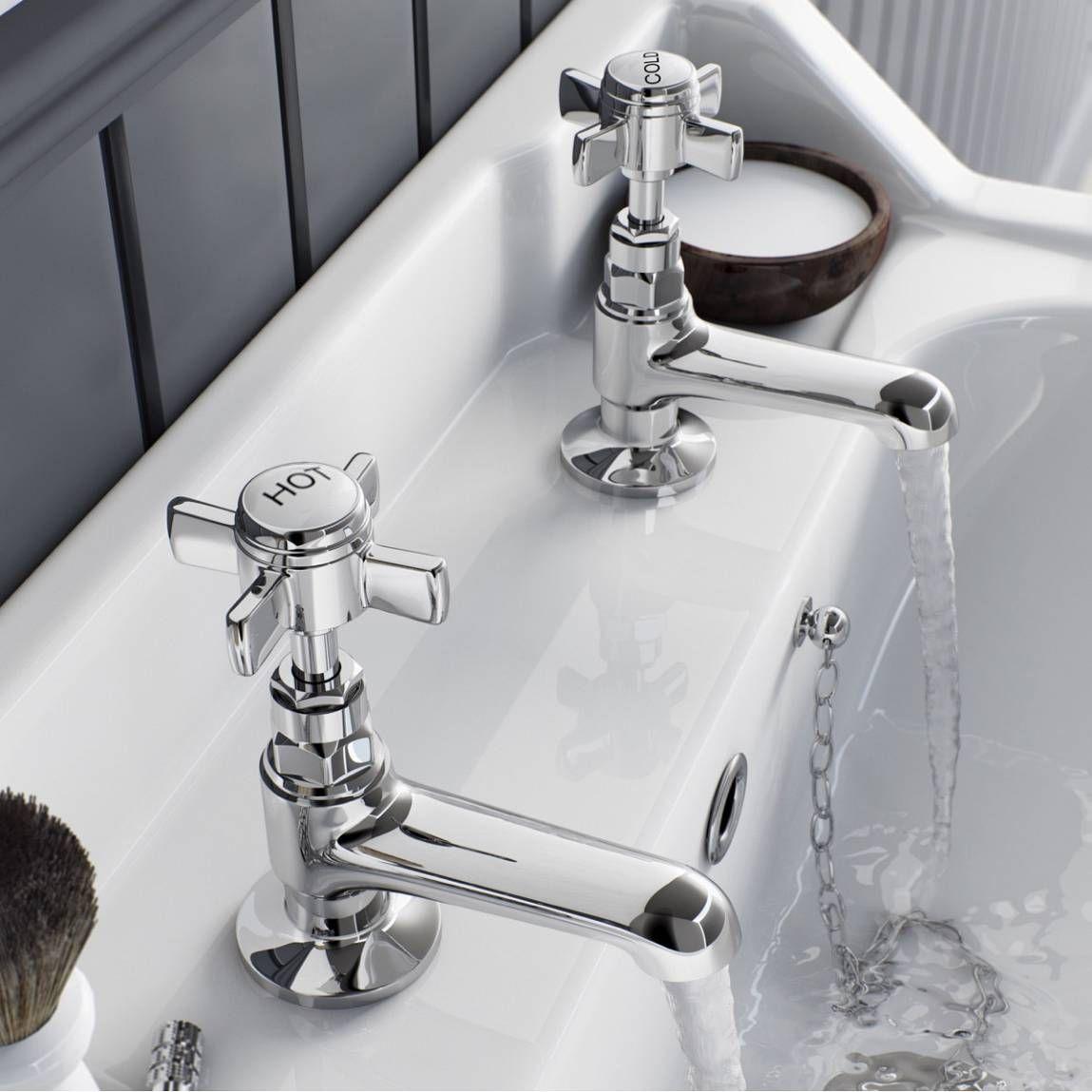 Hampshire Basin Taps Victoria Plumb Chrome Taps Basin Taps Bathroom Basin Taps