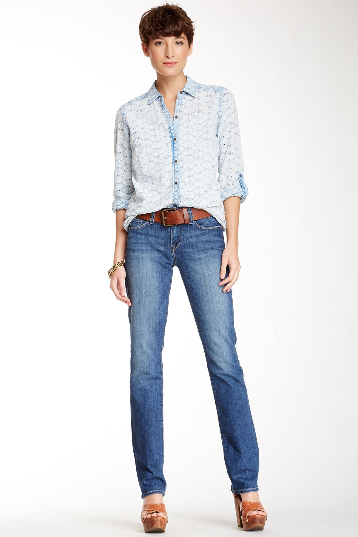 Lucky Brand Sofia Straight Jean by Lucky Brand on @nordstrom_rack outfit sort of