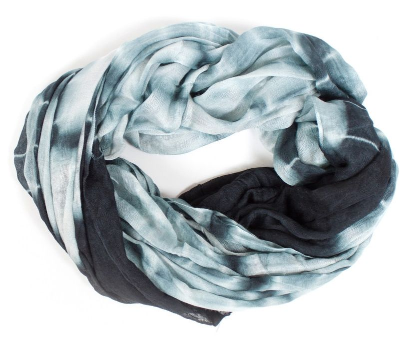 Tie-dye is great, but we like it in a monochromatic, non-rainbow form, like this scarf! (And it's on sale!) Zora scarf, $27.20.
