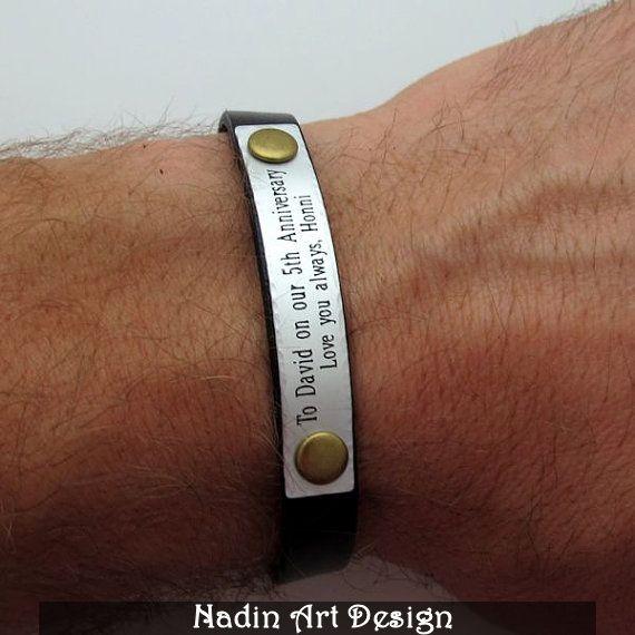 personalisiertes armband herren geschenk von. Black Bedroom Furniture Sets. Home Design Ideas