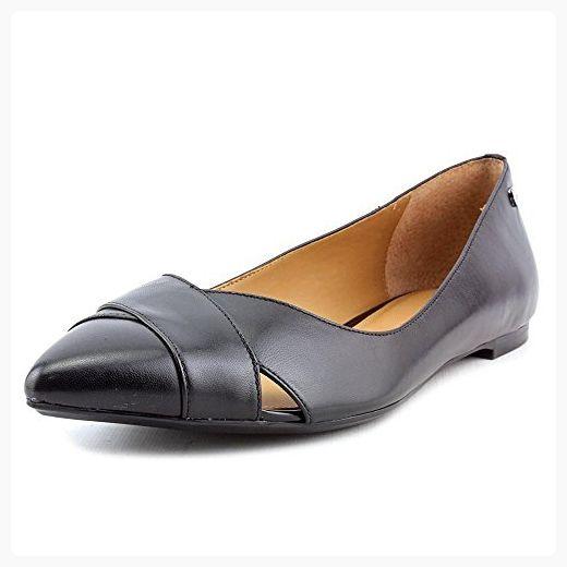 Calvin Klein Gailia Women US 9.5 Black Flats (*Partner Link)