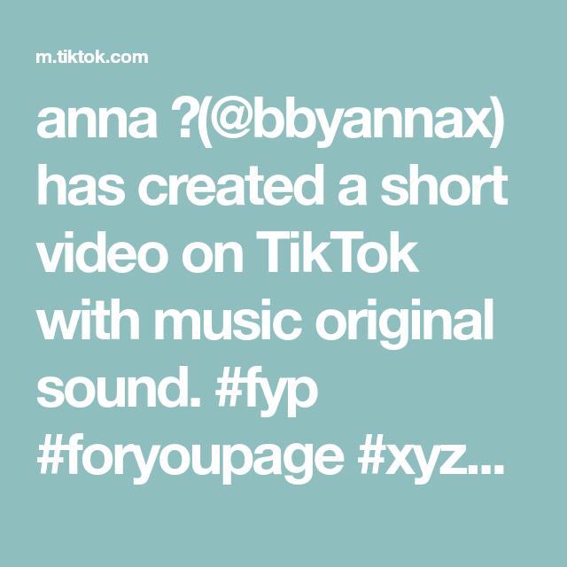 Anna Bbyannax Has Created A Short Video On Tiktok With Music Original Sound Fyp Foryoupage Xyzcba Shein Sheinhaul Rap City Relatable The Originals