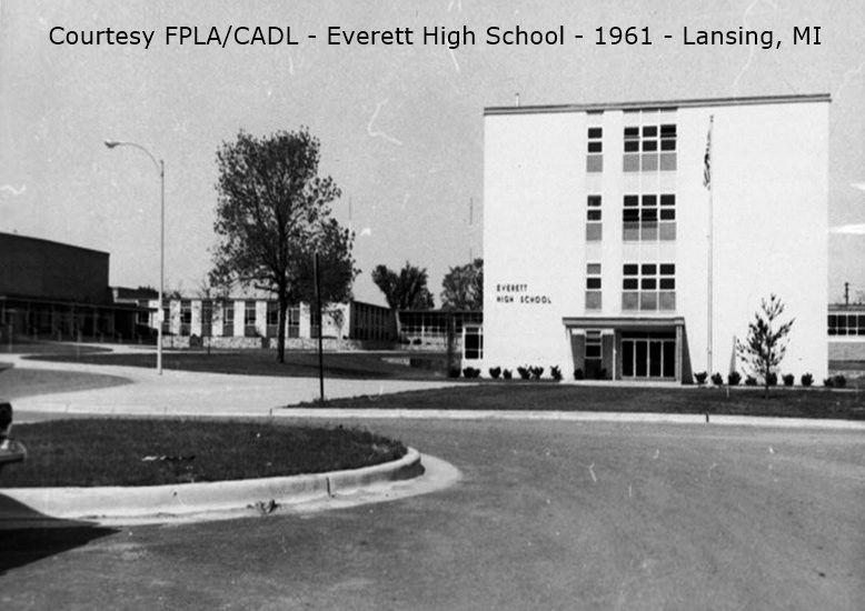 Everett High School-1961-front-JQ02x090-from CADL-Lansing, MI