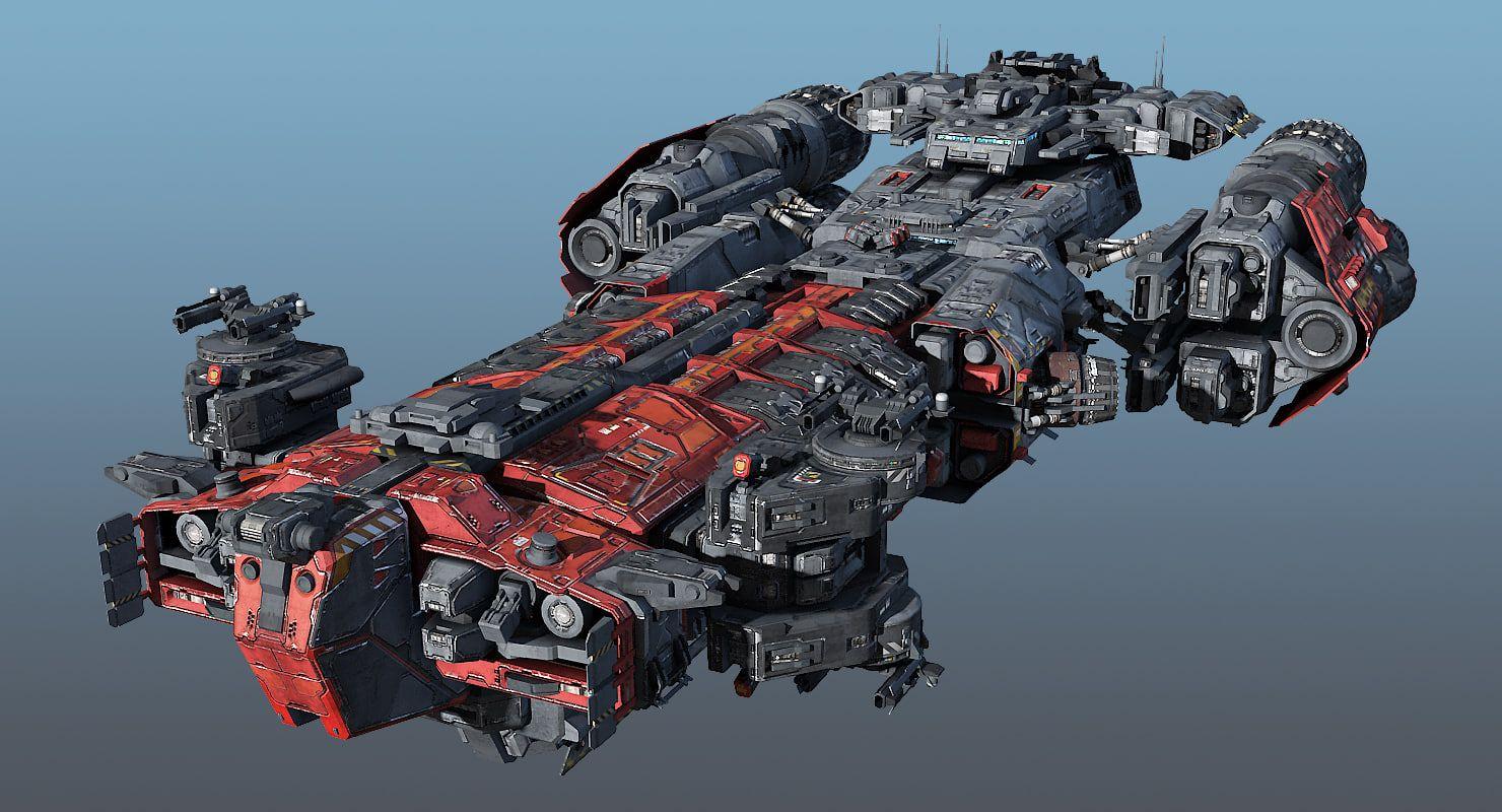 3d Heavy Frigate Scifi Sci Fi Anime Starship Design Sci Fi