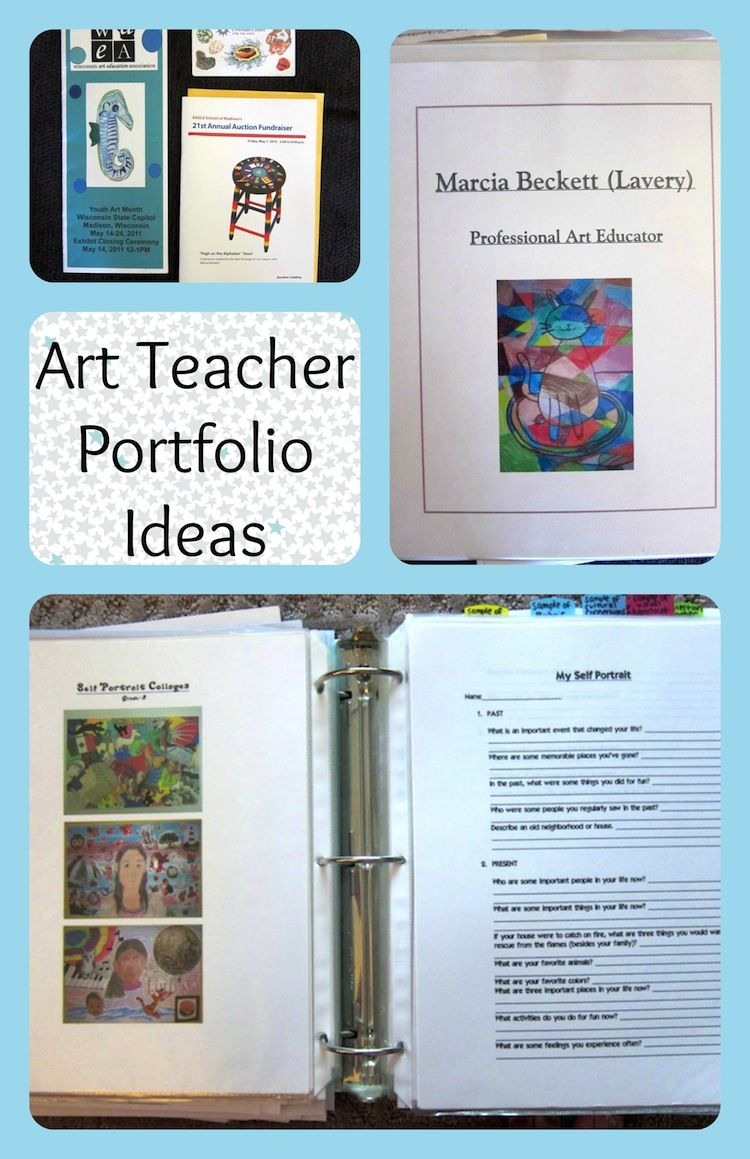 Art Teacher Portfolio Ideas For An Interview  Teaching Portfolio