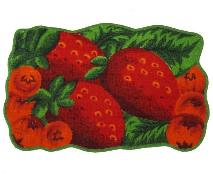 15 Beautiful Strawberry Kitchen Rugs Digital Image Idea