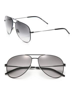 17370735d8813 SAINT LAURENT Classic 11 Oversized Metal Aviator Sunglasses.  saintlaurent   sunglasses