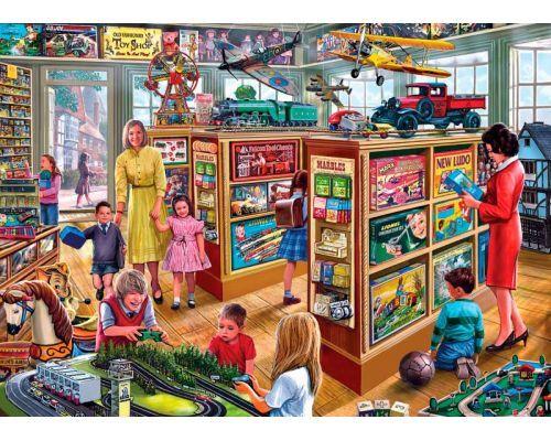 Comprar Puzzle Gibsons La Tienda De Juguetes De 1000 Piezas Ref G6191 Ilustraciones Vintage Imagenes Coloridas Ilustraciones