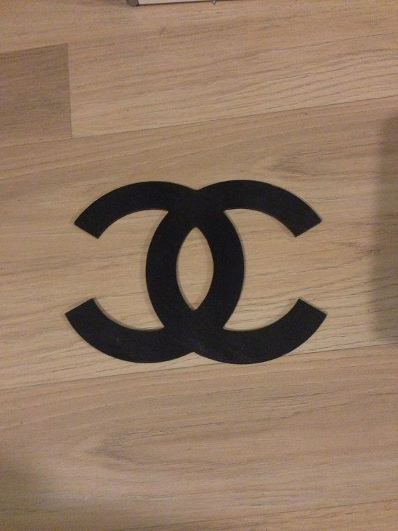 874af996630 Coco Chanel logo wooden by POSHYHOME on Etsy