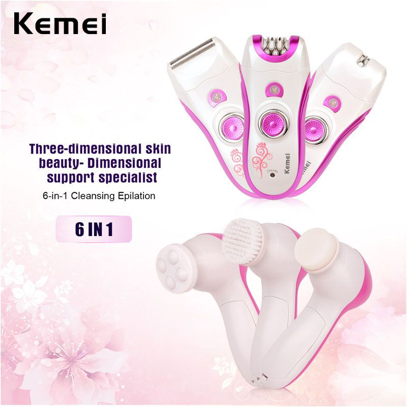 6 In 1 Epilator Lady Electric Remover Hair Removal Epilation