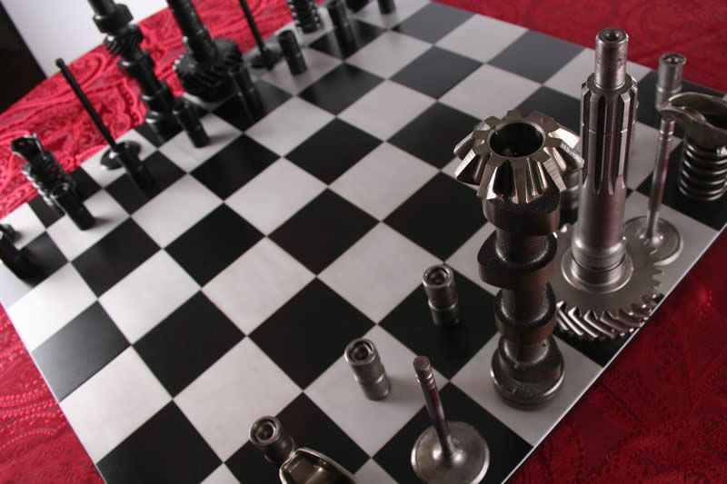 High Octane Chess Set :: Full Board View