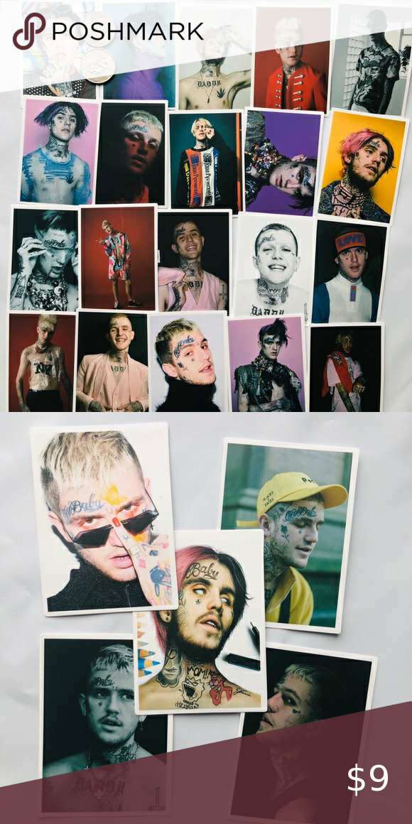 Adults Girls and boy to Decorate DIY Laptop,Phone,Guitar,skateboard etc 50 pcs aesthetic waterproof vinyl graffiti stickers about Lil Peep for Teen Lil Peep stickers pack