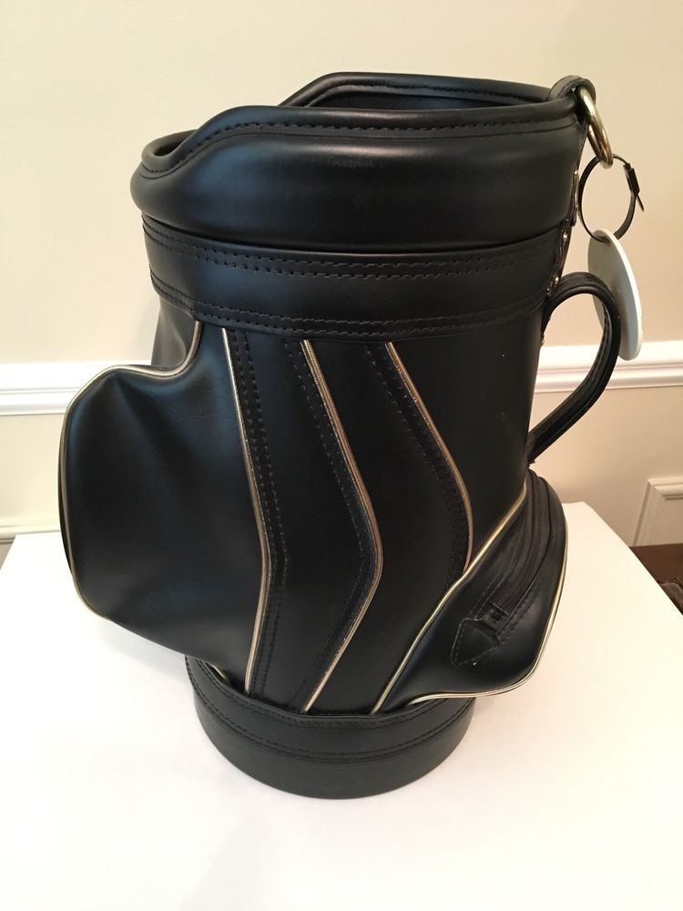 Vintage Burton Golf Bag Mini 21 In High Black Gold Trim Den Bar Man Cave Burton Golf Bags Bags Mini