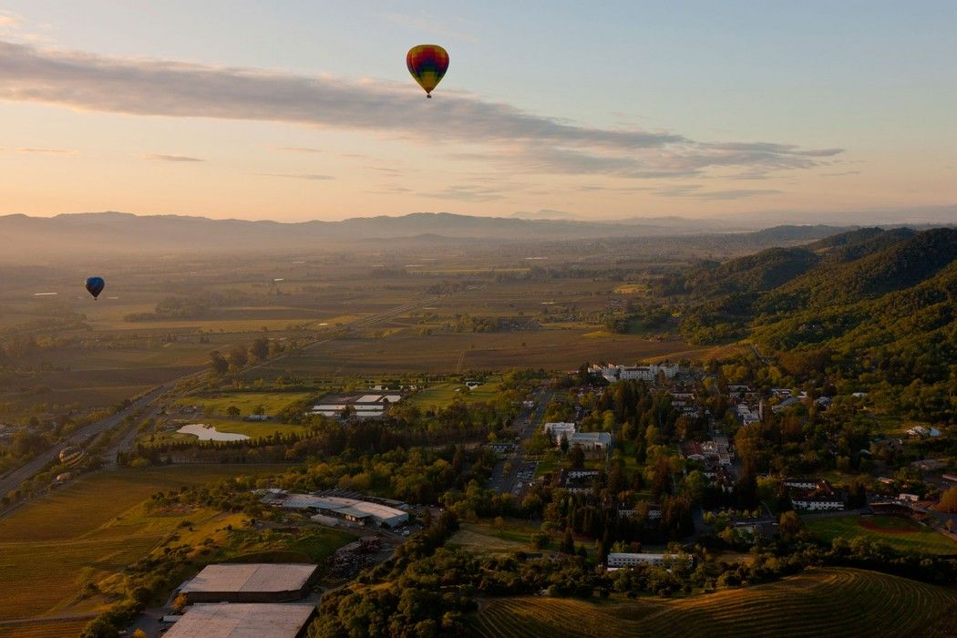 Hot air balloon ride over Napa Valley. napavalley