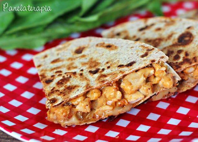 PANELATERAPIA - Blog de Culinária, Gastronomia e Receitas: Quesadilla de Frango