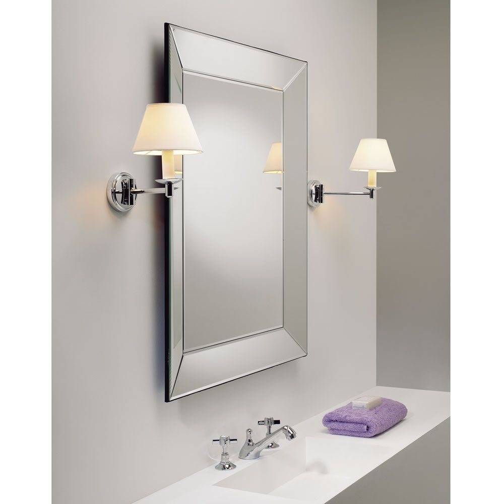 The Grosvenor Swing Arm Bathroom Wall Light is Finished in Polished ...