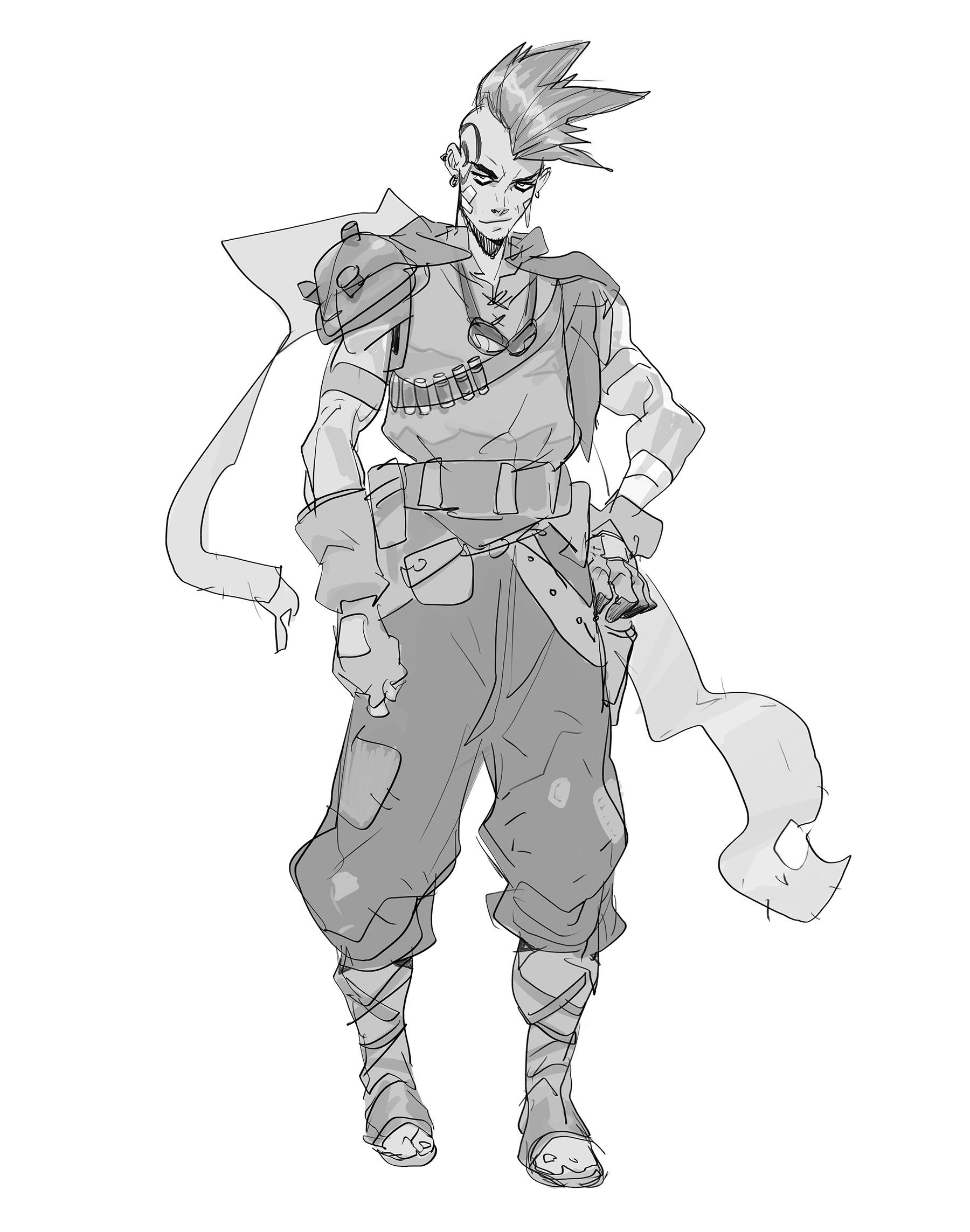 Character Concept Art Sketches