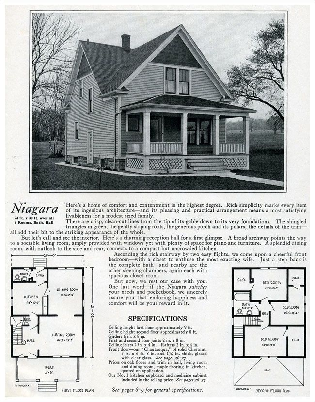 Vintage Farmhouse Plans 1920 bennett homes: the niagara | 1920s house | pinterest | house