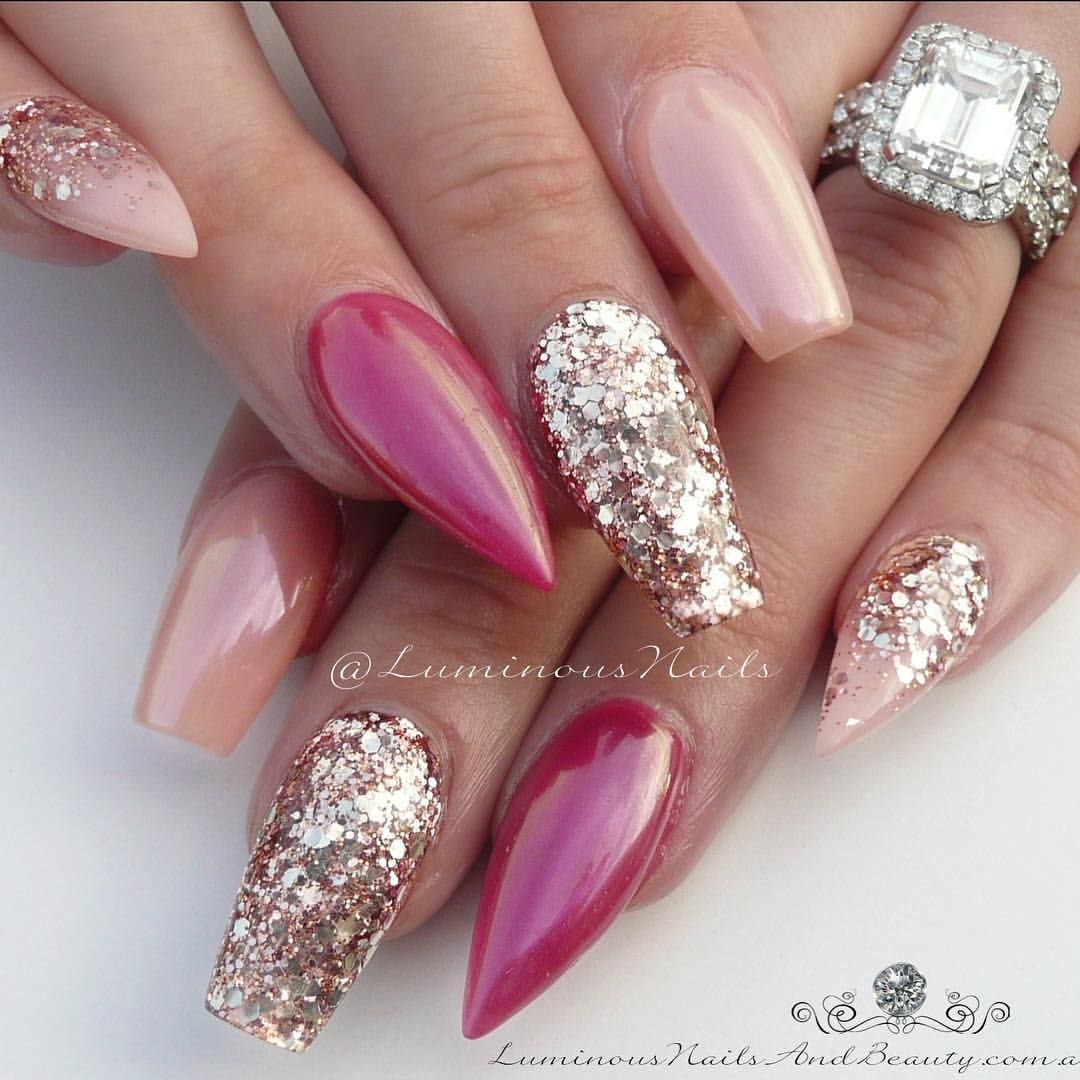 Nudie Gold, Pinky Plum ✨.. ✨✨✨... Classy #pink #nude #gold ...