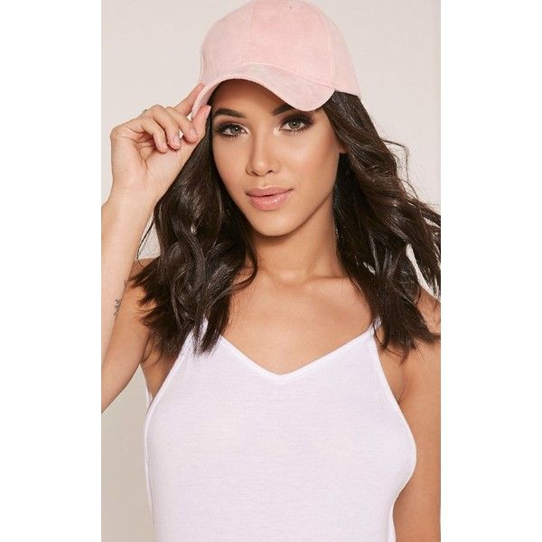 Faye Pink Faux Suede Baseball Cap ($7.64) ❤ liked on Polyvore featuring accessories, hats, pink, pink baseball hat, baseball hat, pink baseball cap, ball cap hats and pink hats